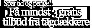 Tagdækker Midtjylland – Få 3 gratis tilbud